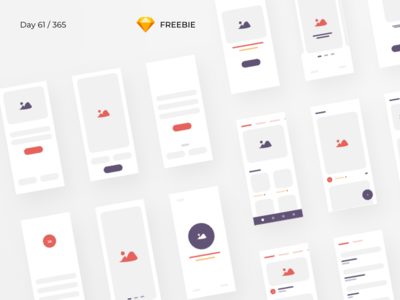 iBlocks - iOS Wireframe Kit Freebie | Day 61/365 - Project365