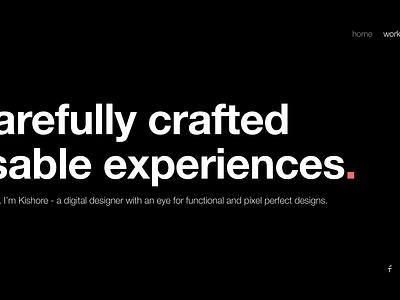 Boldie - Minimal Designer Portfolio   Day 64/365 - Project365 digital ui ux portfolio designer helvetica bold sketch project365 design-challenge minimal-monday minimal