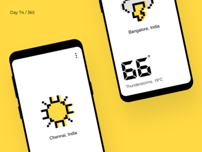 Pixel Weather App  | Day 74/365 - Project365
