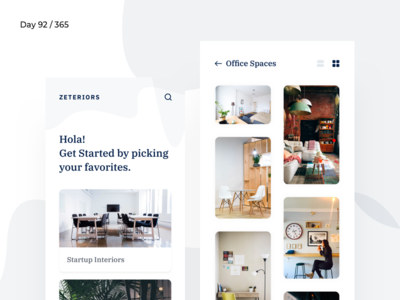 Zeteriors - Interiors Inspiration App | Day 92/365 - Project365 inspiration interior-design architecture interiors sketch project365 design-challenge minimal-monday mobile app minimal app