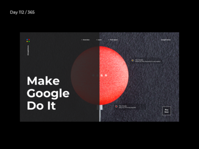 #MakeGoogleDoIt Minimal Homepage  | Day 113/365 - Project365 minimal website home-mini google home google minimal minimal-monday design-challenge project365 sketch inspiration