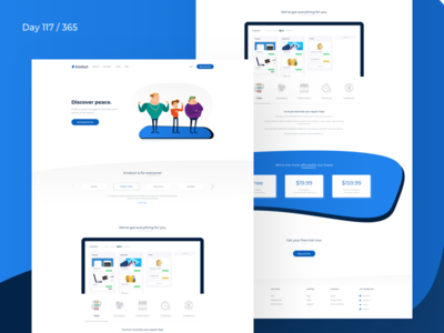 Kroduct - SaaS Landing Page Freebie | Day 117/365 - Project365