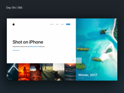 ShotoniPhone - Website Concept | Day 134/365 - Project365 showcase photos website-concept apple photography iphone shotoniphone project365 design-challenge minimal-monday minimal