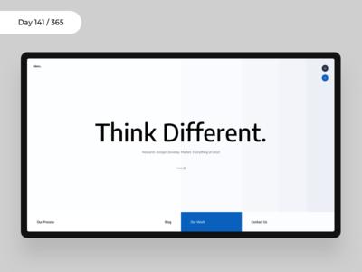 Minimal Agency Web Concept | Day 141/365 - Project365 minimal minimal-monday design-challenge project365 minimal landing header design showcase agency site minimal agency