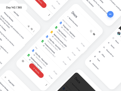 Google Docs - Material Redesign 2.0 | Day 142/365 - Project365 redesign concept mobile-app android-app sketch redesign-tuesday project365 material design app android google docs