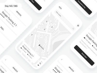 Parking Finder app - Wireframe | Day 143/365 - Project365 mobile-app daily-ui wireframe challenge design project365 wireframe-wednesday car parking app parking finder