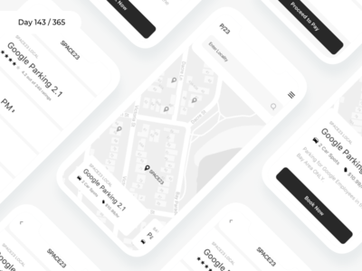 Parking Finder app - Wireframe | Day 143/365 - Project365