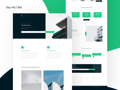 Real Estate - Landing Page Freebie   Day 145/365 - Project365 minimal architecture landing-page landingpage freebie-friday project365 sketch freebie sketch-freebie