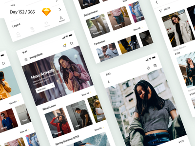 Fashion Store App Freebie | Day 152/365 - Project365 online app clothes dresses ecommerce fashion app sketch-freebie freebie sketch project365 freebie-friday