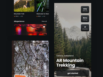 AR Travel Treasure Hunt App | Day 158/365 - Project365 travel app ar travel treasure hunt ar daily-ui design-challenge project365 disruptive-thursday