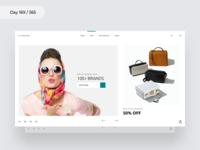 Fashion Web Landing Page   Day 169/365 - Project365