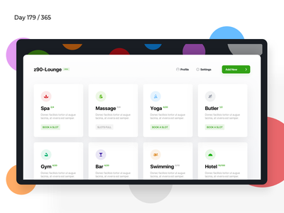 Suites & Lounge iPad App | Day 179/365 - Project365 spa app massage lounge suites hotel app ipad ipad app disruptive-thursday project365 design-challenge