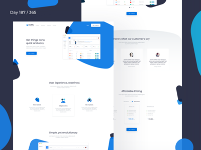 Saasify - Landing Page Sketch Freebie | Day 187/365 - Project365 sketch-freebie sketch project365 freebie-friday saas product page saas software sketch landing page freebie landing page saas