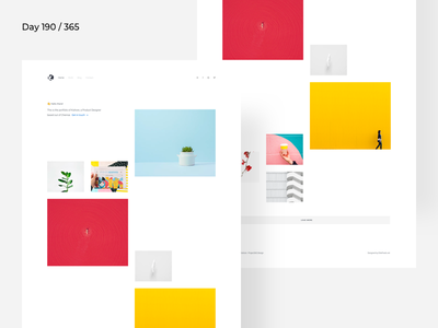 Minimal Designer Portfolio | Day 190/365 - Project365 designer-portfolio product-designer portfolio project365 design-challenge minimal-monday minimal