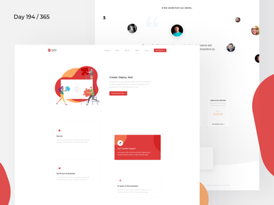 Web Hosting - Landing Page Freebie | Day 194/365 - Project365 poppins hosting servers webhosting landing page freebie sketch landing page saas software saas product page freebie-friday project365 sketch-freebie