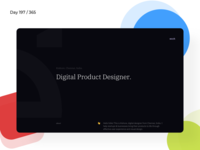 Minimal Designer Portfolio | Day 190/365 - Project365