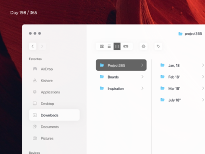 MacOS Finder Redesign Concept | Day 198/365 - Project365