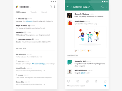 Slack Mobile App Redesign | Day 205/365 - Project365 project365 redesign-tuesday sketch concept redesign saas teams slack. messaging