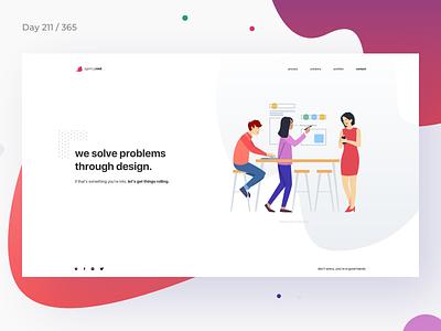 Design Agency Website Concept | Day 211/365 - Project365 illustration header minimal agency website agency website design studio project365 design-challenge minimal-monday minimal