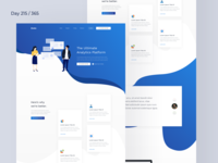SaaS Analytics Landing Page Freebie | Day 215/365 - Project365