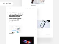 Portfolio Revisit - Minimal | Day 225/365 - Project365