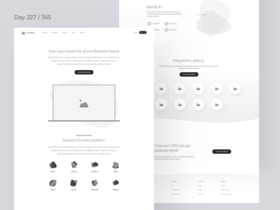CRM Product Landing Page Wireframe | Day 227/365 - Project365