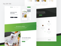 Recipes App Landing Page Freebie | Day 229/365 - Project365