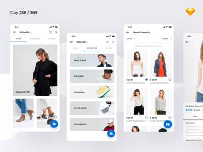 Minimal Fashion App Freebie | Day 236/365 - Project365