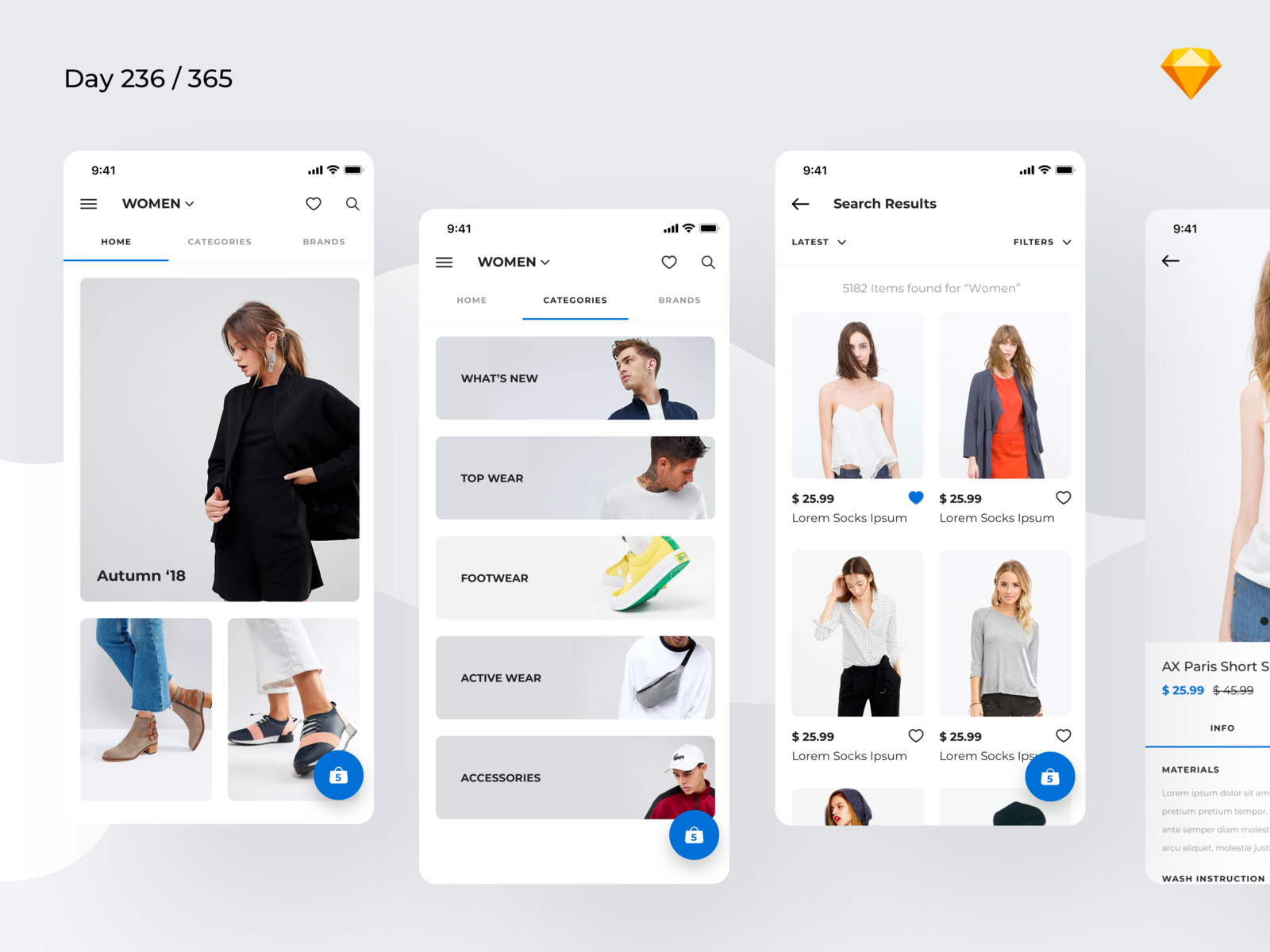 Download Minimal Fashion App Freebie | Day 236/365 – Project365