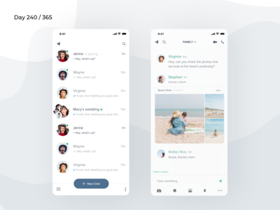 Telegram App Redesign Concept | Day 240/365 - Project365
