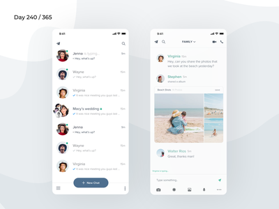 Telegram App Redesign Concept | Day 240/365 - Project365 messenger redesign messaging app telegram app redesign telegram messenger design-challenge mobile-app challenge daily-ui redesign-tuesday minimal