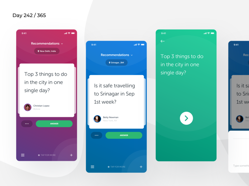CommunityAsk - App Concept  | Day 242/365 - Project365 community questions colorful mobile-app ios11 gamificaiton project365 sketch design-challenge disruptive-thursday dashboard