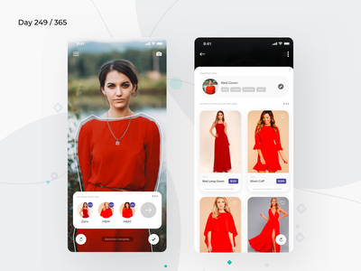 AR - Clothing Detection Concept  | Day 249/365 - Project365 clothing ar fashion online shopping dress detection app dress scanner ar app augmented reality augmentedreality ar dashboard disruptive-thursday design-challenge sketch project365 ios11 mobile-app