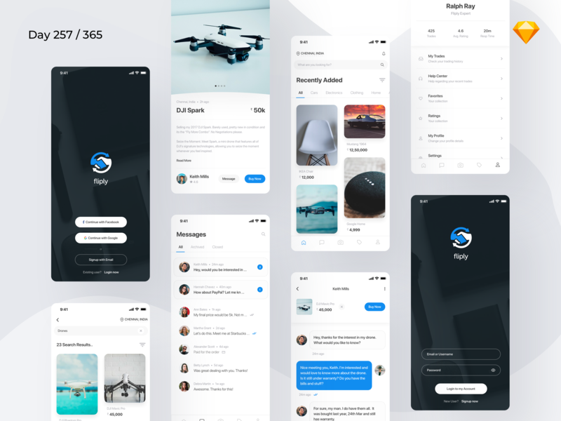 Buy/Sell - Marketplace App Freebie | Day 257/365 - Project365 marketplace app freebie buying selling app craigslist app craigslist sketch app buy sell app sf-pro-display design-challenge daily-ui challenge project365 mobile-app sketch freebie-friday freebie sketch freebie ios