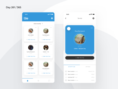 Tile Mobile App Redesign Concept | Day 261/365 - Project365