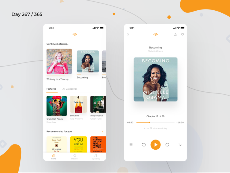 Audible.com App Redesign Concept | Day 268/365 - Project365