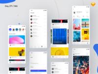 Social App UI Kit Freebie | Day 271/365 - Project365