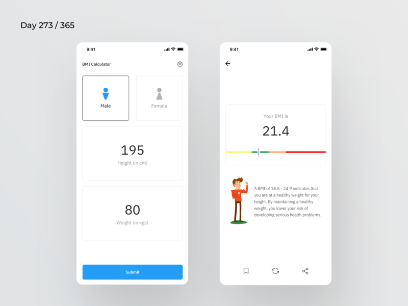 BMI Calculator App | Day 273/365 - Project365 by Kishore on