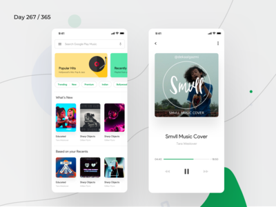 Google Play Music App Redesign | Day 275/365 - Project365