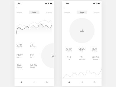 Sleep Tracker App Wireframe | Day 276/365 - Project365 sleep tracking app sleeping time tracking app sleep tracker daily-ui mobile ux app design ux wireframe-wednesday mobile-app minimal design-challenge project365 wireframe ios