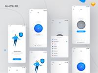 VPN Mobile App UI Kit Freebie | Day 278/365 - Project365