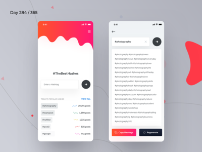 HashTag Generator iOS App Concept | Day 284/365 - Project365