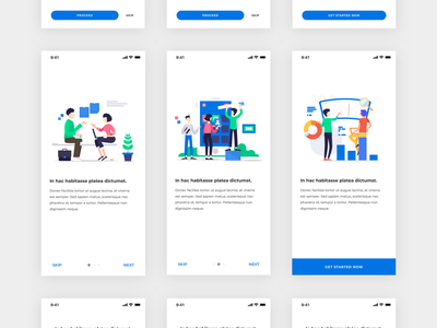 Mobile Onboarding Screens - Freebie | Day 292/365 - Project365 free ui kit blue montserrat iphone x onboarding screens onboarding ui colorful illustration onboarding sketch ios sketch freebie freebie freebie-friday mobile-app project365 challenge daily-ui design-challenge ui kit