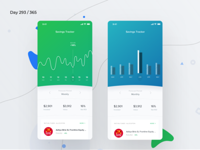 Savings Tracking App Concept | Day 293/365 - Project365