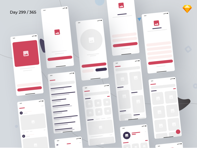 eBlocks - eCommerce Wireframe Kit iOS | Day 299/365 - Project365 free wireframe ui kit low fidelity wireframe kit colorful wireframe wireframes wireframing ui kit blocks ui kit design-challenge daily-ui challenge project365 mobile-app freebie-friday freebie sketch freebie ios sketch colorful iphone x free ui kit