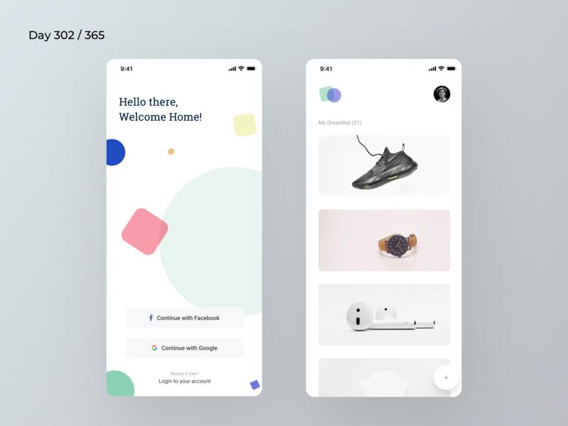 Minimal Dream Wishlist App | Day 302/365 - Project365 bucketlist wishlist dream wishlist minimal app minimal-monday minimal daily-ui design-challenge project365 mobile app mobile-app ios ios11 ios12