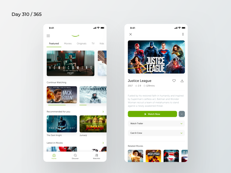 Amazon Prime Video App Redesign | Day 310/365 - Project365
