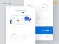 SaaS Product - Landing Page Freebie | Day 313/365 - Project365