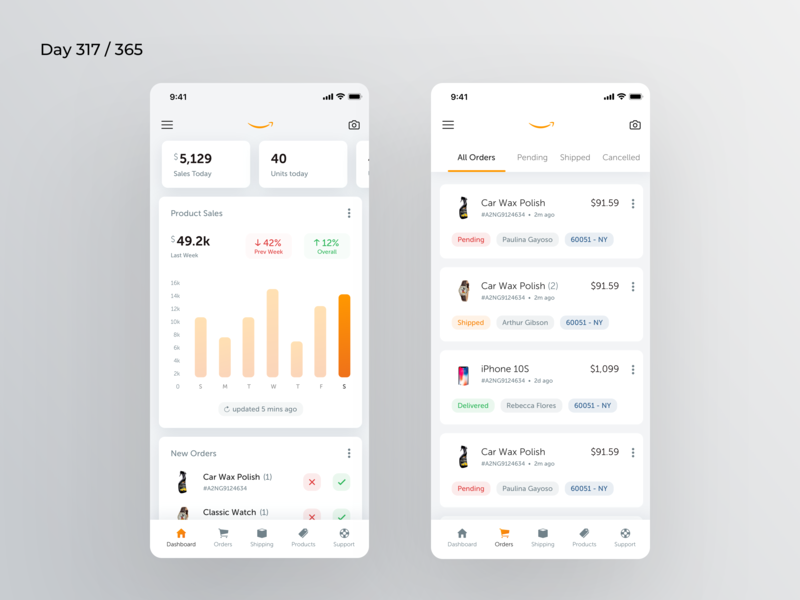 Amazon Seller App Redesign | Day 317/365 - Project365