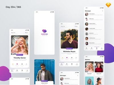 Dating App - Sketch Freebie | Day 334/365 - Project365 muli dating app freebie matchmaking tinder love dating mobile app mobile bold ui kit design-challenge daily-ui challenge project365 freebie-friday freebie sketch freebie sketch